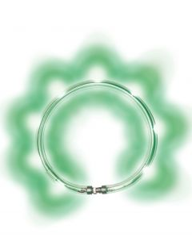 LumiVision LED-Halsband mit USB-Ladekabel + Betriebsanleitung grün