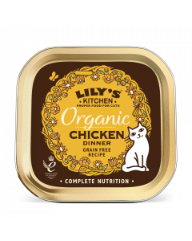 Lily's Kitchen Nassfutter Katze 85 g Organic Chicken, Huhn